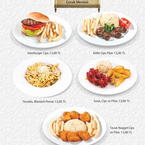 cocuk menu